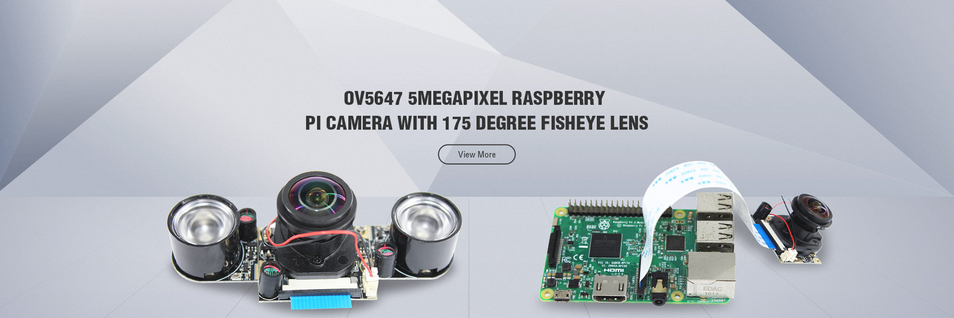 OV5647 5MEGAPIXEL RASPBERRY PI CAMERA WITH 175 DEGREE FISHEYE LENS