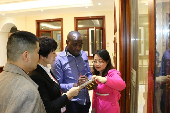 African Customer visit our company