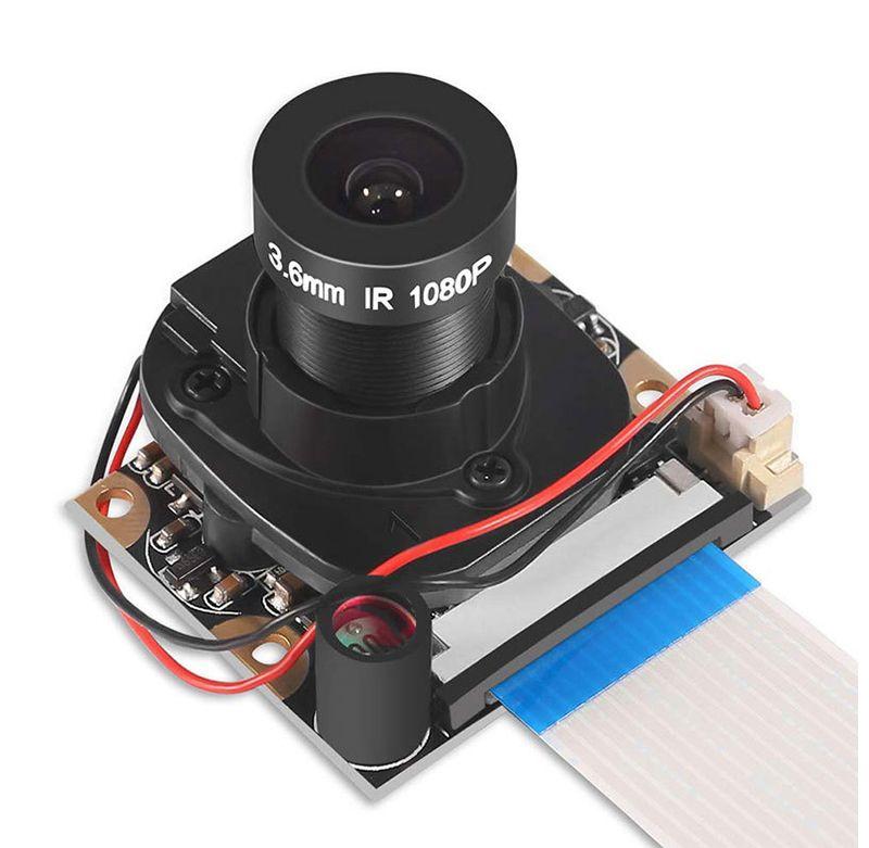 Raspberry Pi Camera Module with Automatic IR-Cut Night Vision Camera 5MP 1080p HD Webcam for Raspberry Pi 3 Model B