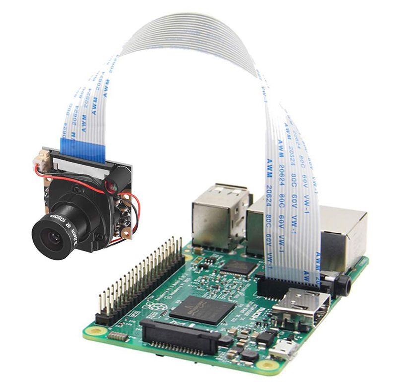 Raspberry Pi Camera Module with Automatic IR-Cut Night Vision Camera 5MP 1080p HD Webcam for Raspberry Pi 3 Model B
