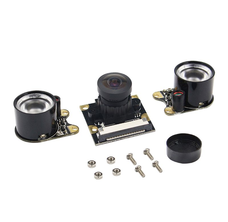 Raspberry Pi Camera Module Adjustable-focus Wide-angle lens with Infrared LED Supports Night Vision OV5647 For Pi 3B/2B/A+/B+/B