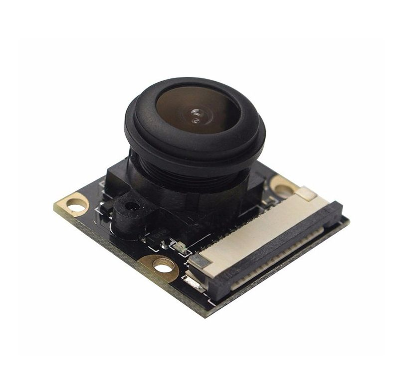 Raspberry Pi 3 Model B + Night Vision Camera 5MP Wide Angle 130 Degree Fisheye Lens 1080P Camera Module for Rasberry Pi 3 2