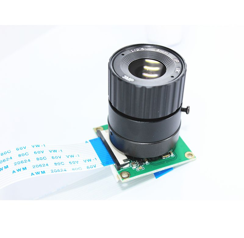 Raspberry Pi Camera Module 5MP 8mm Focal Adjustable Length Night Vision NoIR Camera for Raspberry Pi 3 Model B+/3B/Zero W